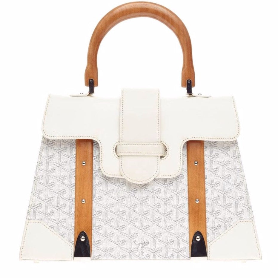 Goyard Saigon MM tote white