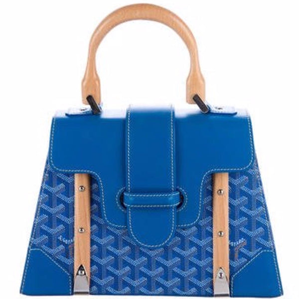 Goyard Saigon PM tote blue