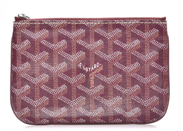 Goyard Senat Mini pouch in special colors burgundy