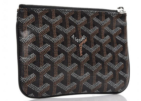 Goyard Senat Mini pouch in black/black