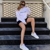 Sporty & rich white health club sweatshirt