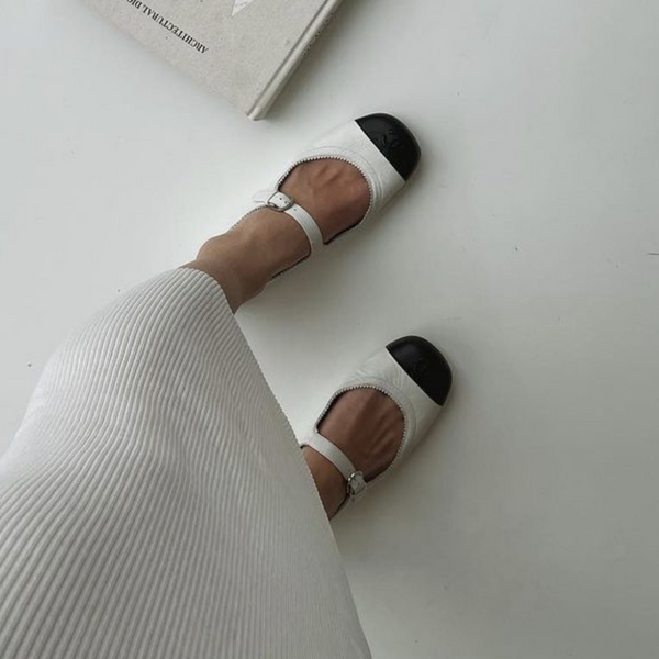 CHANEL Cruise 20/21 black & white Mary Jane pumps