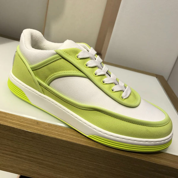 CHANEL neon fabric sneakers Spring-Summer 2021
