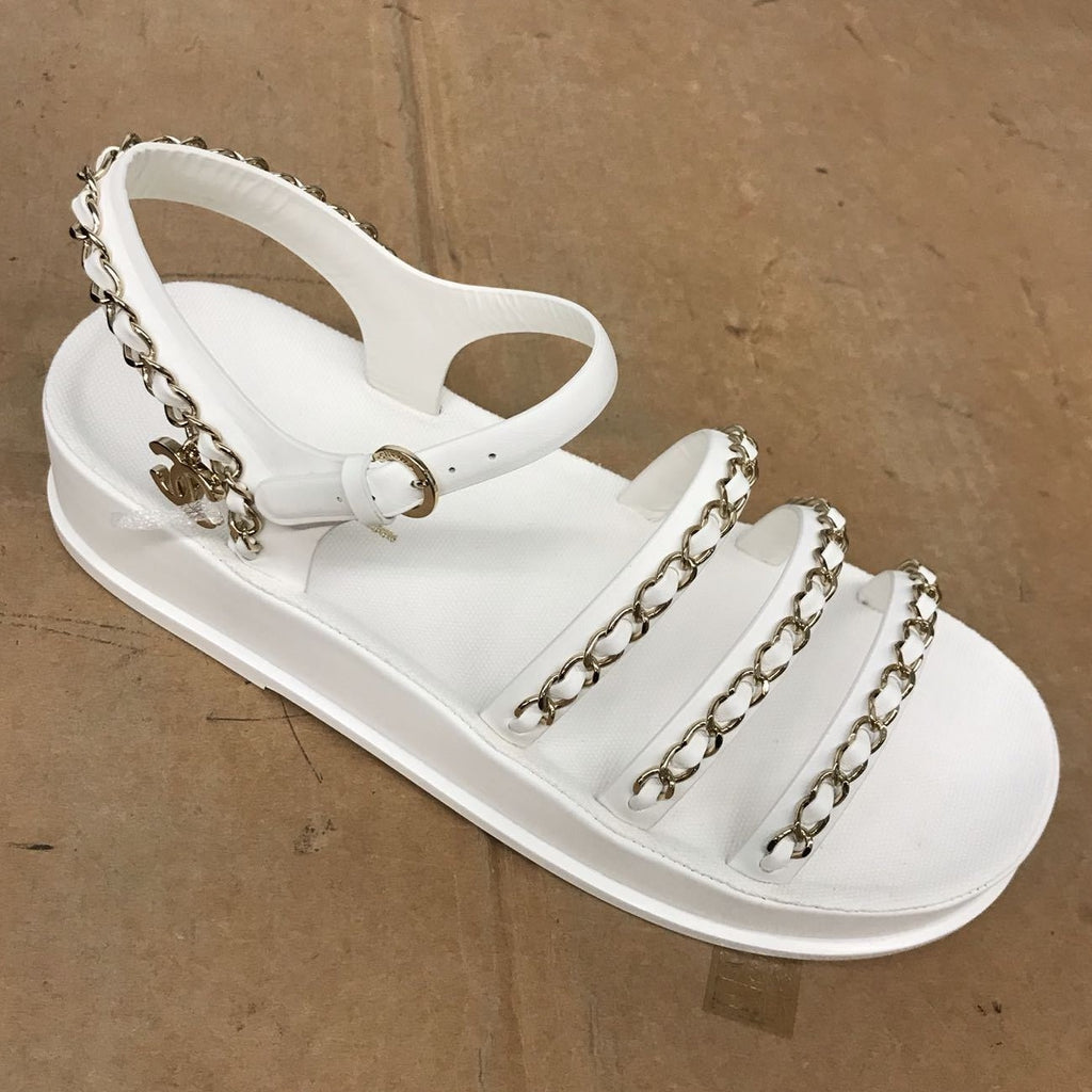 CHANEL Spring-Summer 2021 white sandals