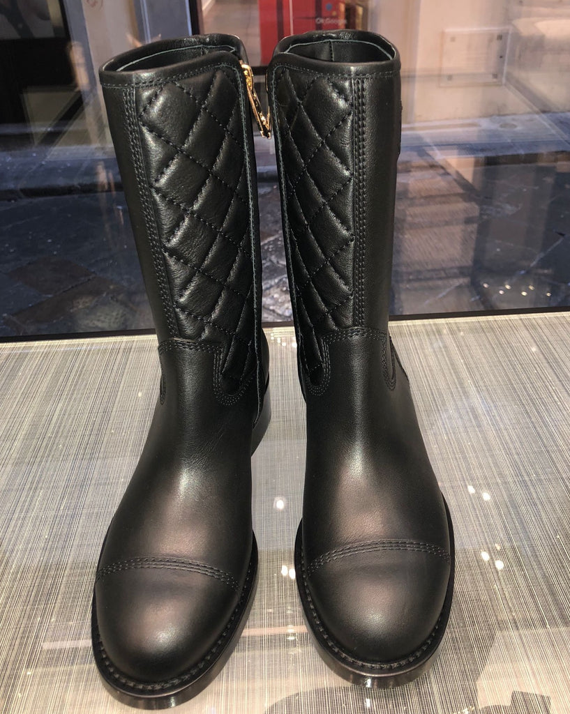 CHANEL Spring-Summer 2021 black mid calf boots