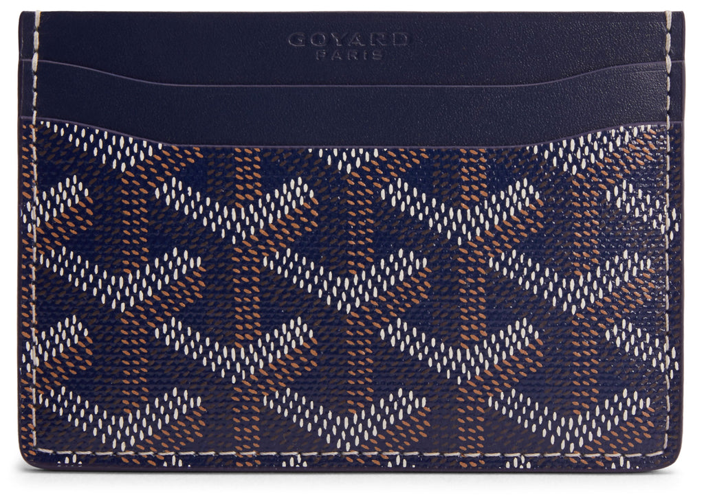 Goyard St. Sulpice card holder in special colors navy