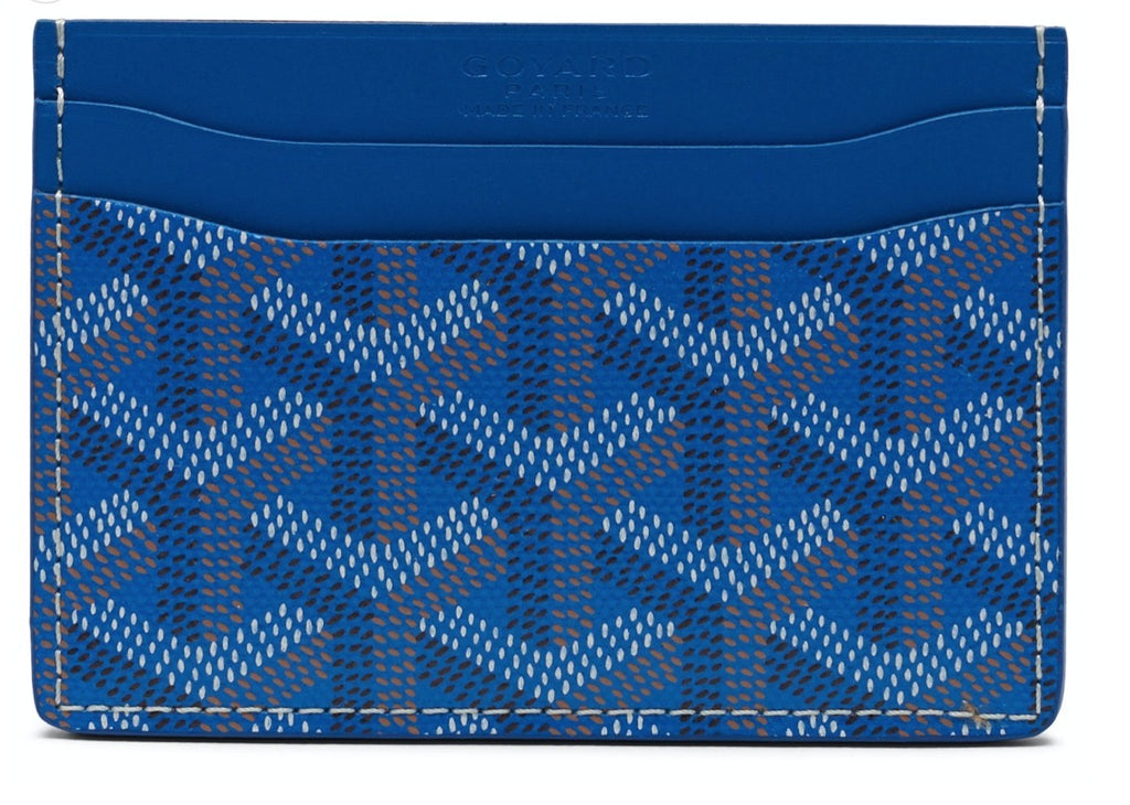 Goyard Saint Sulpice blue card holder