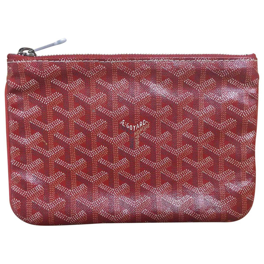 Goyard Senat small pouch in special colors red
