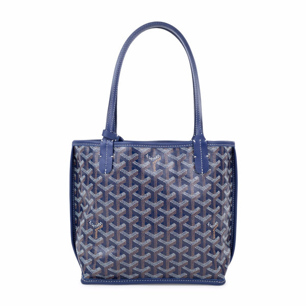 Goyard Anjou mini tote blue