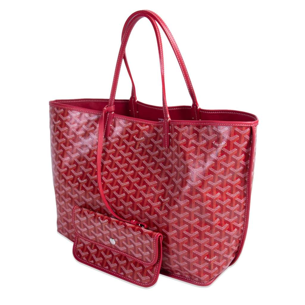 Goyard Anjou PM tote in special colors red