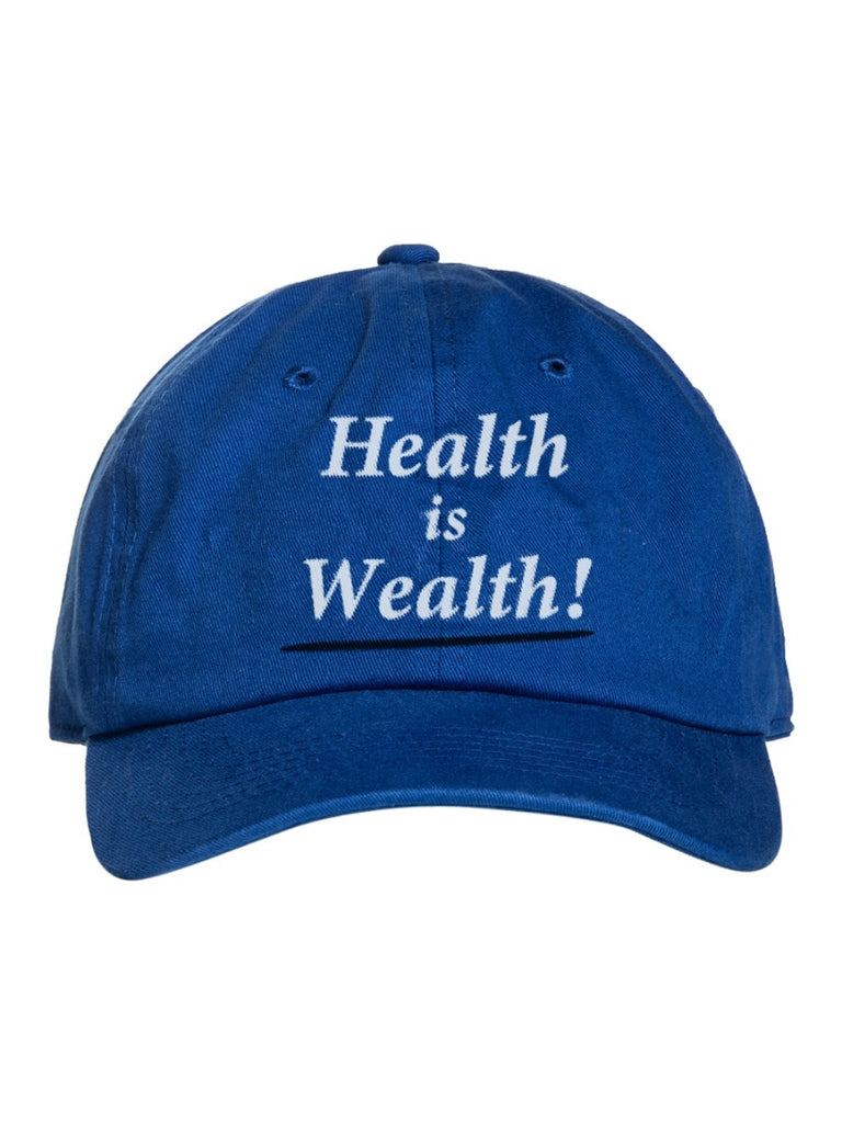 Sporty & Rich blue 'Health is Wealth' cap