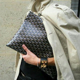 Goyard Senat large pouch in black color