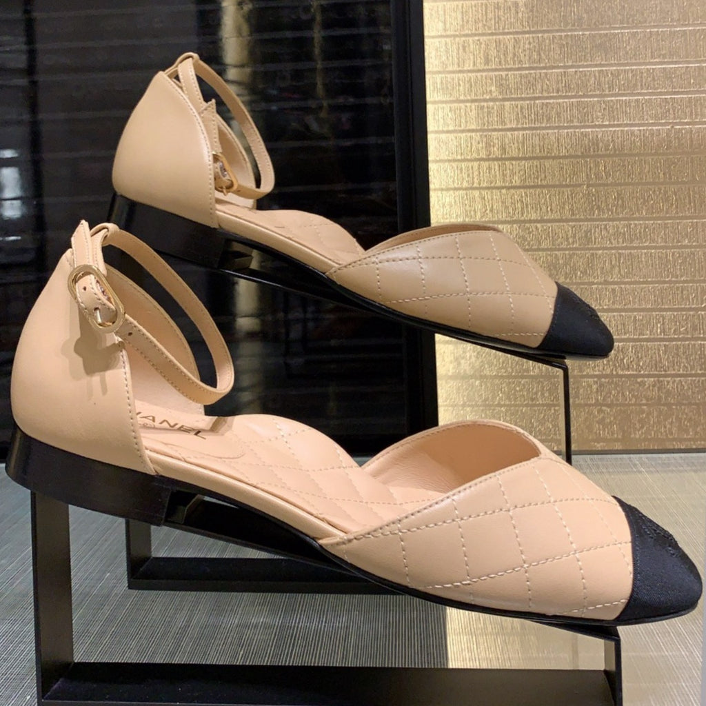 Chanel beige leather Mary Jane Pumps SS2020