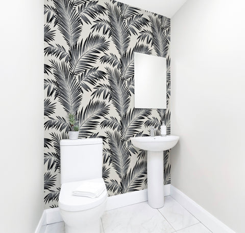 Diamond Tropical Palm Bathroom wallpaper