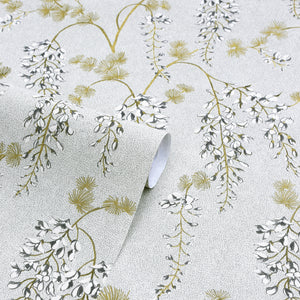Wisteria Floral Neutral/Gold