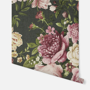 Tapestry Floral Charcoal/Pink