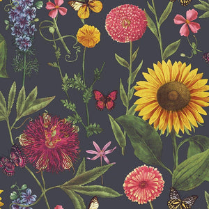 Summer Garden Charcoal Multicoloured