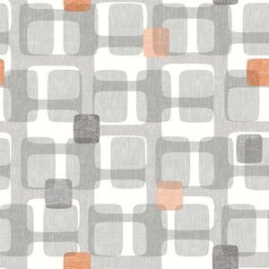Retro Block Orange & Grey
