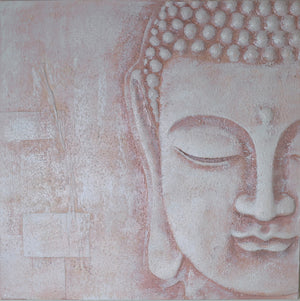 3D Blush Buddha Wall Art