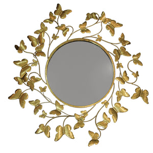 AH Metallic Gold Butterfly Mirror 1in