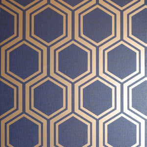 Luxe Hexagon Navy Gold