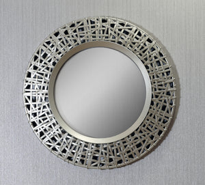 Circular Golden Mirror
