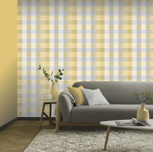 Country Check Ochre