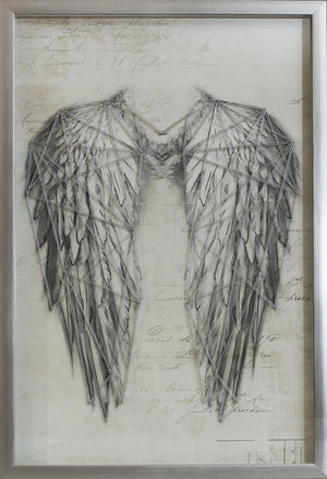 Angel Wings Silver Metallic