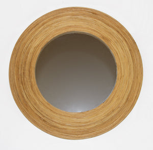 AH Round Wooden Mirror 4in