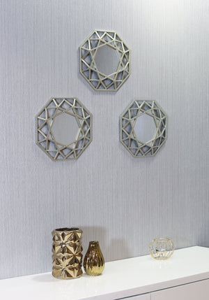 Octagon Mirrors (set of 3)