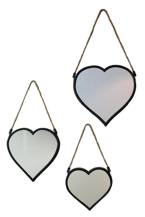 Set 3 Heart Mirrors