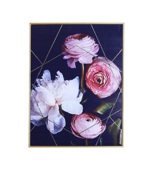 Dark Floral Capped Canvas