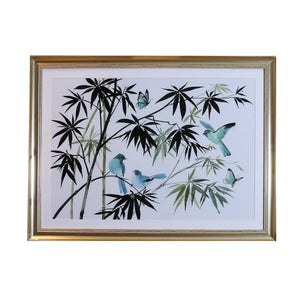 Oriental Birds Framed Print