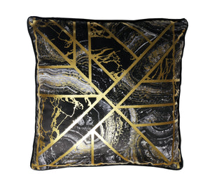 Gold Marble Geo Cushion