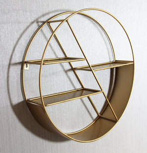Circular Gold Shelf