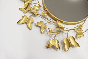 Metallic Gold Butterfly Mirror