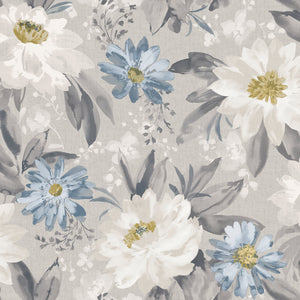 Painted Dahlia Grey Multicoloured