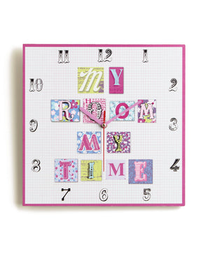 Patchwork Hearts Clock