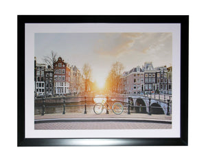 Amsterdam Sunset Framed Print