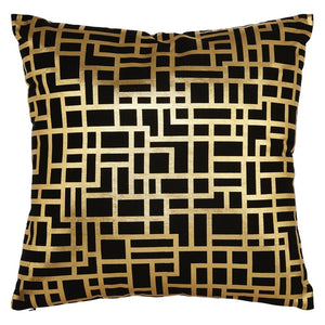 Satoni Black and Gold Cush & Pillow