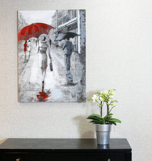 Rainy Street Scene Canvas