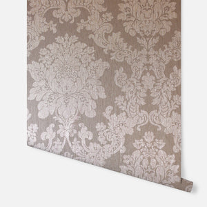 Foil Damask Rose Gold