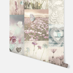 Tranquil Dreams Collage Teal & Pink
