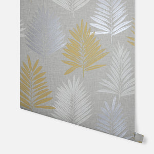 Linen Palm Ochre & Grey