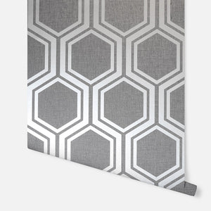 Luxe Hexagon Gunmetal Silver