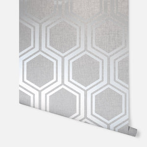 Luxe Hexagon Silver