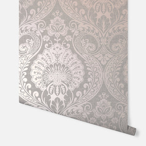 Luxe Damask Dusky Rose