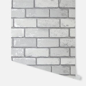 Metallic Brick White/Silver