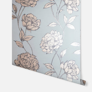 Pretty Floral Soft Blue