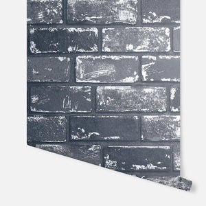 Metallic Brick Black & Silver